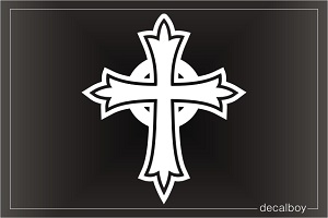 Cross Clipart Window Decal