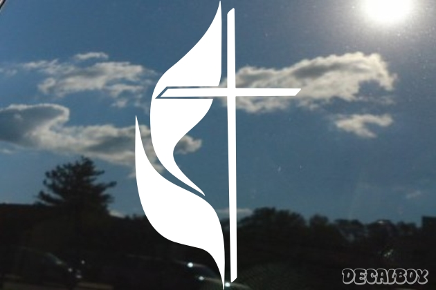 Cross United Methodist Die-cut Decal