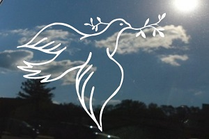 Dove Olive Branch Window Decal