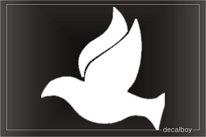 Dove Silhouette Window Decal