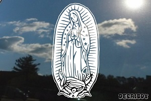 Virgen Maria Window Decal