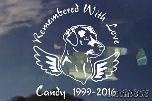 Remembered With Love Pet Memorial Car Decal
