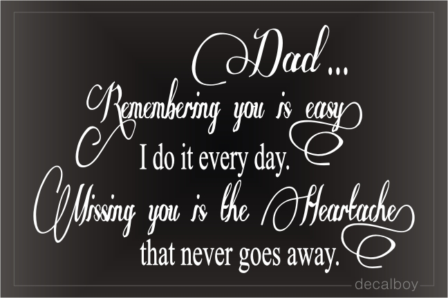 Remembering You Is Easy Car Decal