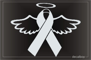 Ribbon Halo Wings Decal