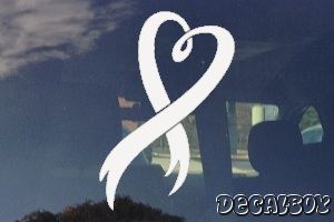 Ribbon Heart Decal