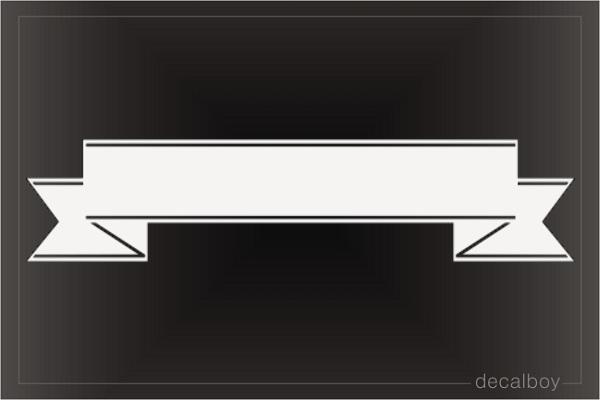 Ribbon Straight Decal