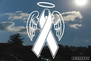 Ribbon Wings Halo Car Decal