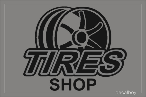 Rim Shop Logo Decal