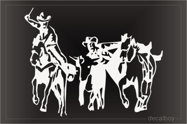 Rodeo Cowboys Car Window Decal