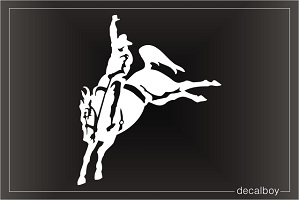 Rodeo Horse Rider Car Window Decal