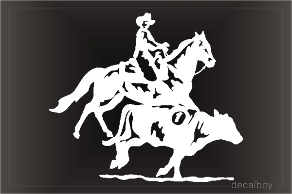 Rodeo Cowboy Clipart Car Window Decal