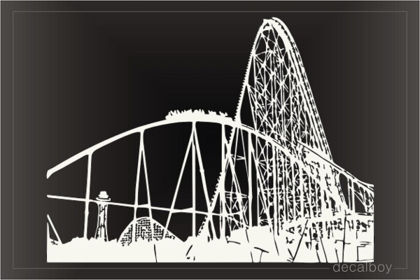 Roller Coaster Decal