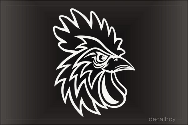 Rooster Head Decal