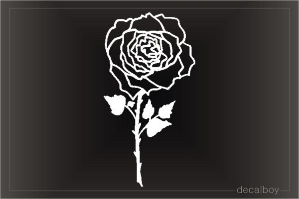Rose 334 Window Decal