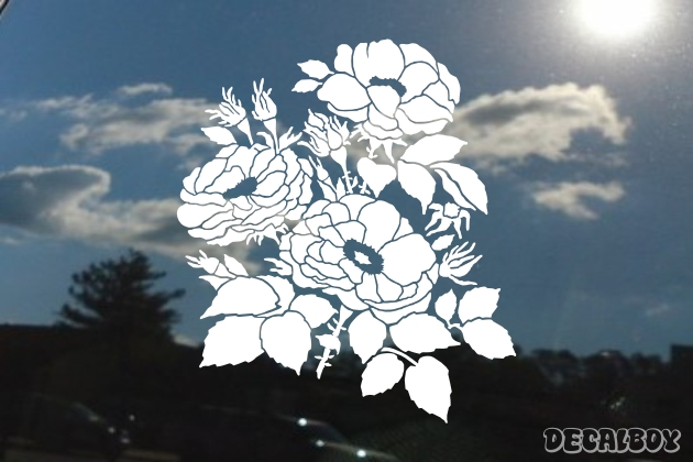 Rose Bouquet Decal