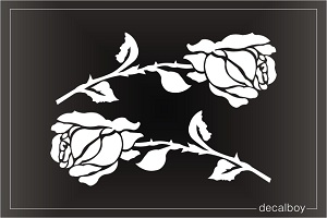 Roses Valentines Window Decal