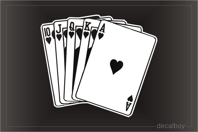 Royal Flush Lapel Pin Poker Car Decal