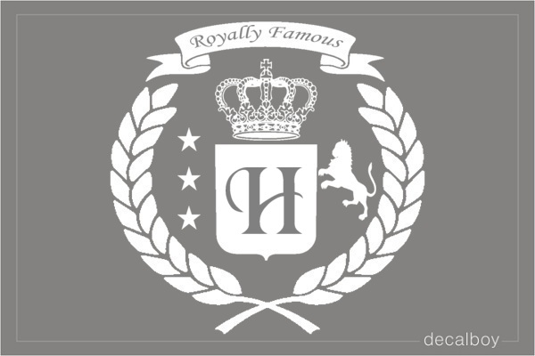 Royal Emblem Design Decal