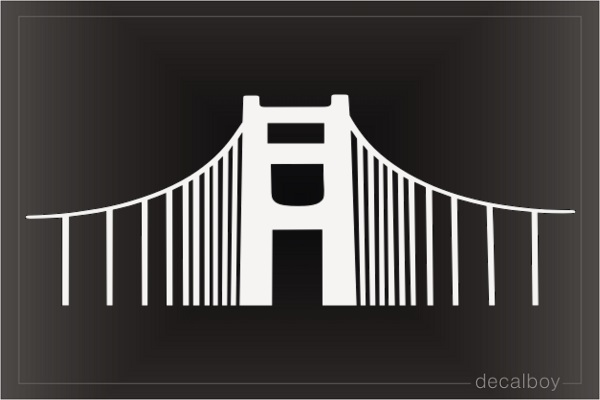 Sf Bridge Decal