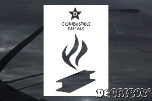 Flammable Sign 1 Car Decal