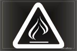 Flammable 5 Car Decal