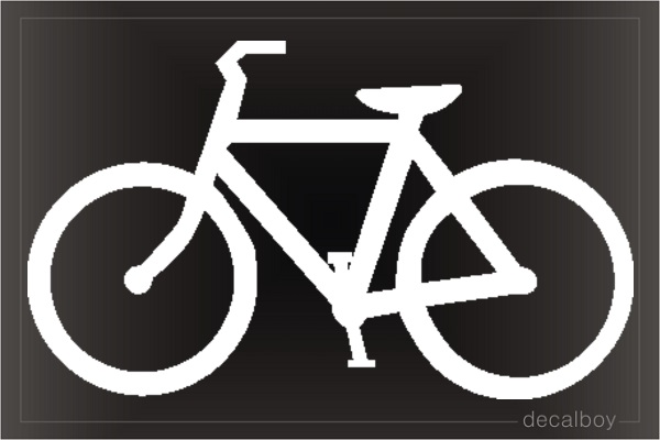 Bicycle Sign 2 Window Decal