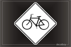 Bicycle Sign Car Decal