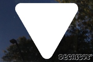Triangle Solid Car Decal