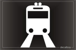 Train Sign Car Decal