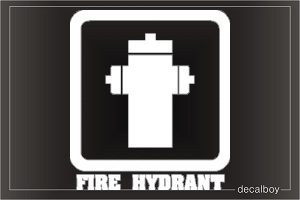 Fire Hydrant Sign Car Decal