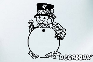 Snow Man Car Decal