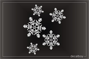 Snowflakes Car Decal
