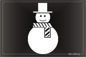 Snow Man 2 Car Decal