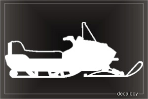 Snowmobile Window Decal