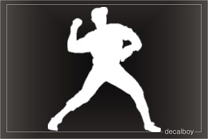 Pitcher Baseball Player Window Decal
