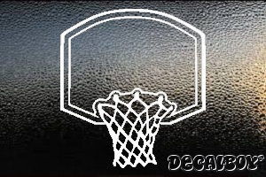 Basketball Basket Window Decal