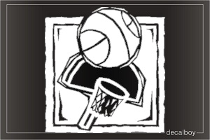 Basket Ball Window Decal
