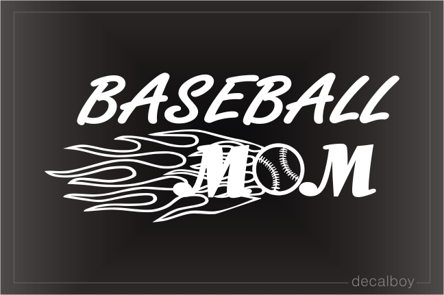Baseball Mom Window Decal