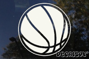 Basketball Window Decal