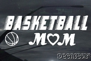 Basketball Mom Window Decal