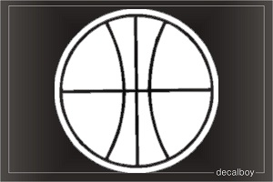 Basketball 01 Window Decal