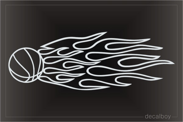 Basketball Flames Die-cut Decal