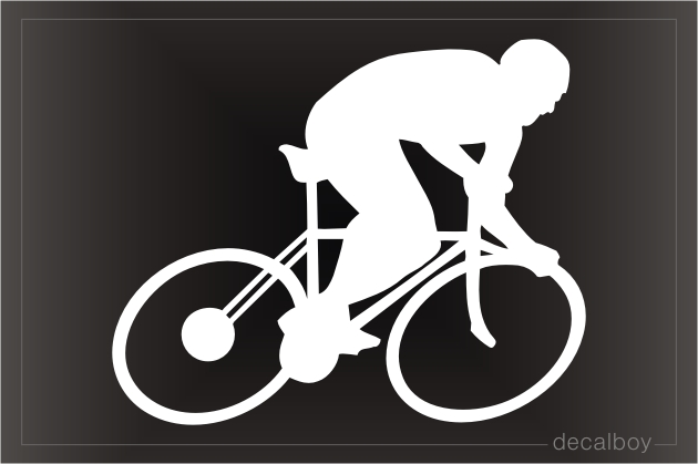 Cycling Window Decal