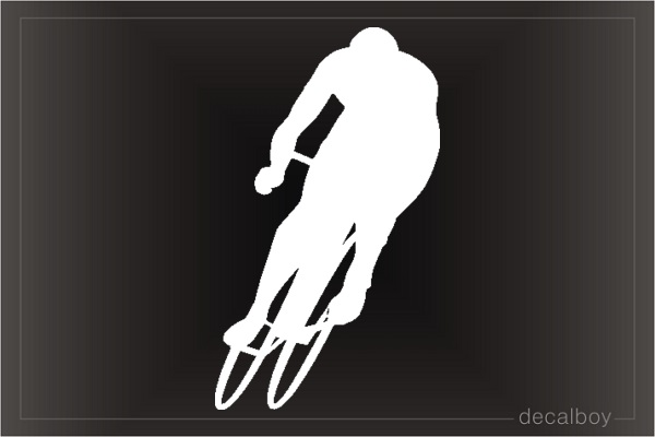Cyclist Window Decal