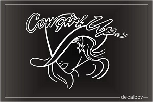 Cowgirl Up 2 Car Window Decal