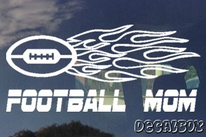 Football Mom Window Decal