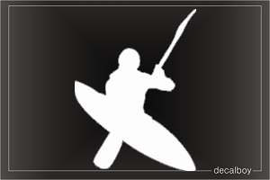 Whitewater Kayaking Window Decal