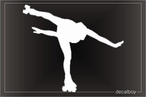 Iceskater Window Decal