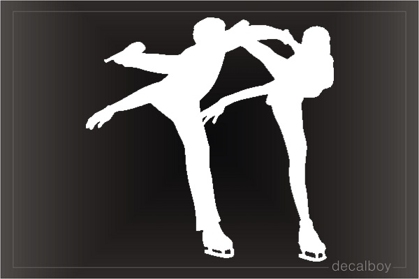 Ice Skating Pair Figure Window Decal