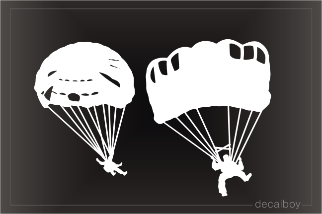Skydiving Clipart Window Decal